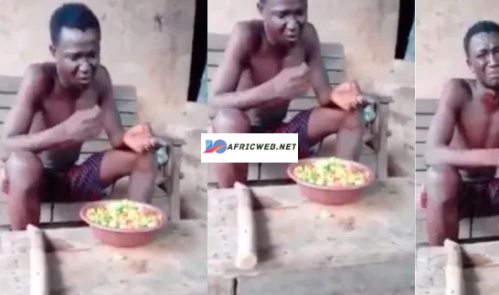 Thief forced to Chew red pepper